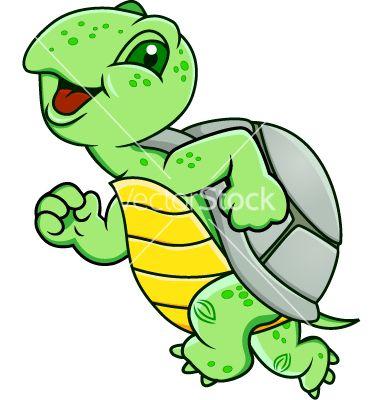 Running turtle vector on VectorStock®