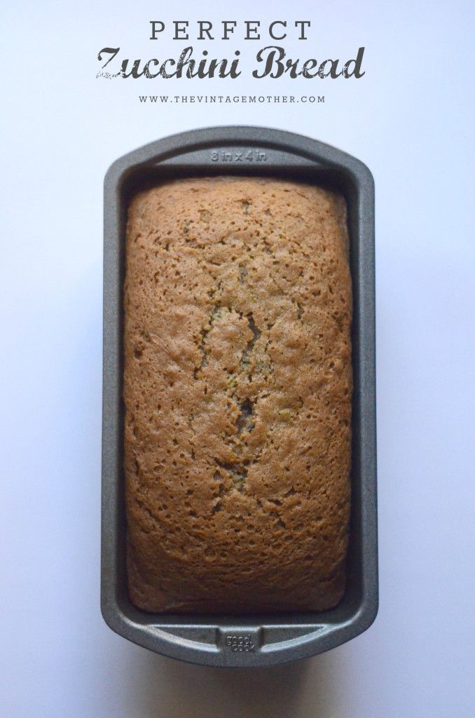Perfect Zucchini Bread - I made this today. It is so yummy! Better than other zucchini breads I've tired.