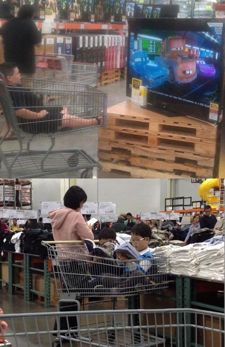 White Kids vs. Asian Kids in Costco