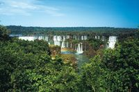 La exuberancia de la selva tropical, al sur, extiende sus límites hasta la provincia de Misiones en Argentina.