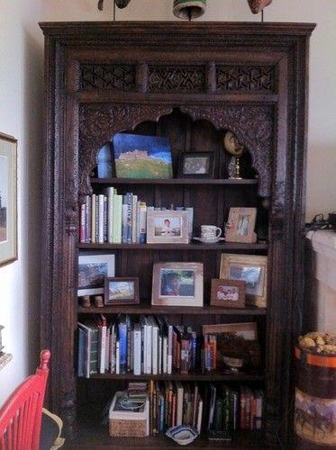 Indian Book Shelf Antique Ornate Inlaid Wood