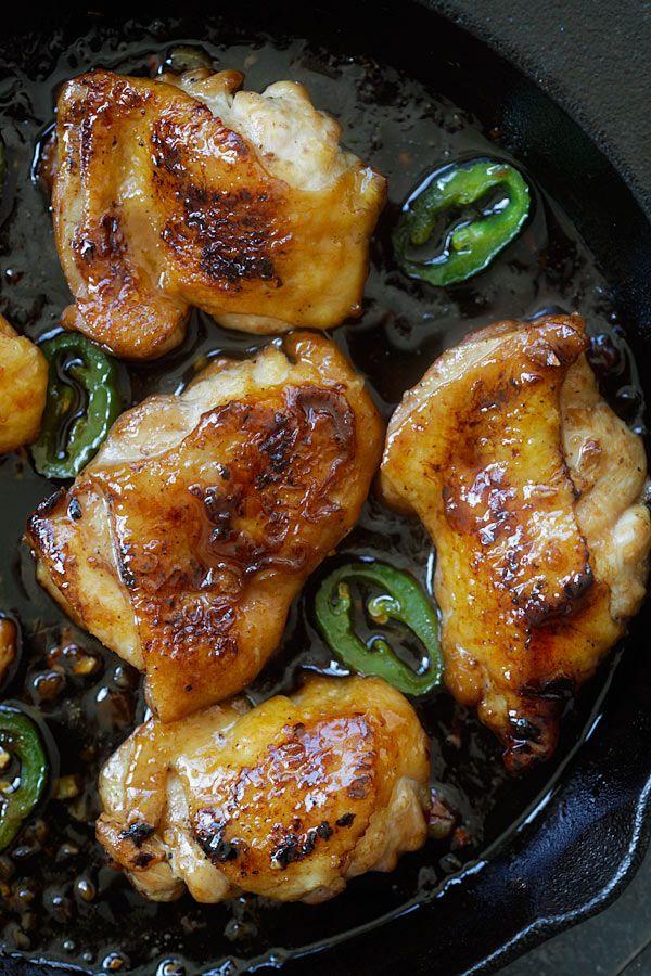 Caramel pollo - el plato de pollo de Asia más fácil y más delicioso nunca con salsa de caramelo pegajoso, dulce y salado.  Listo en 20 minutos!  | Rasamalaysia.com