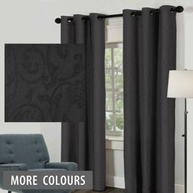 black eyelet curtains the value 8 pack allows you to create a modern