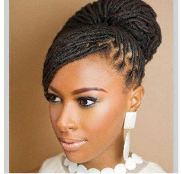Loc updo natural hair care pinterest locs natural hair and