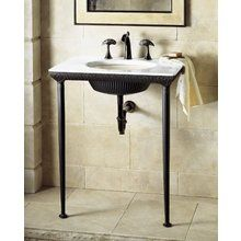 the kohler k 6898 p5 iron lavatory console only no sink or table