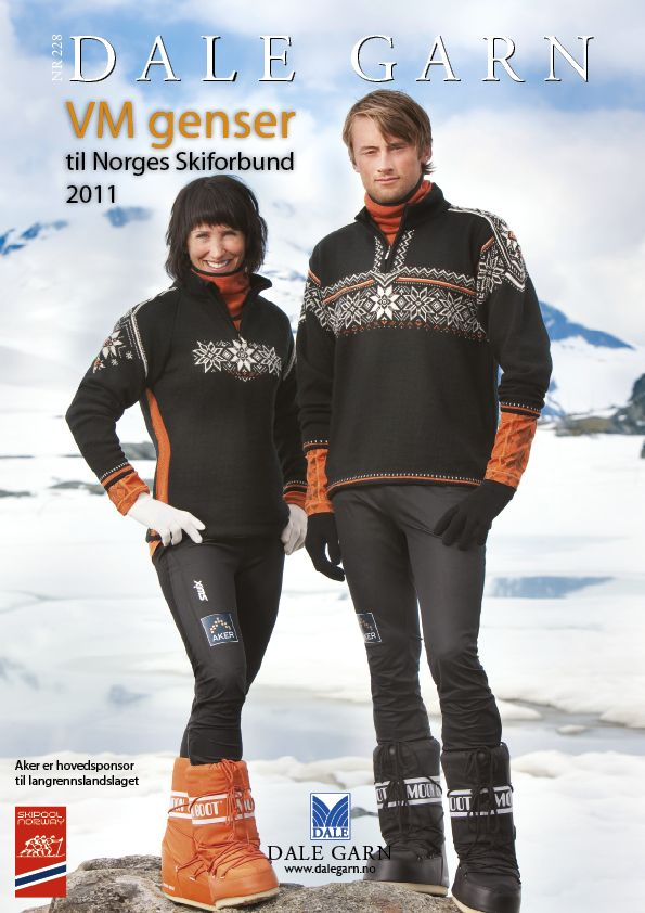 #DaleGarn Free Download Patterns DG228 VM-genser 2011 #MaritBjørgen #PetterNorthug