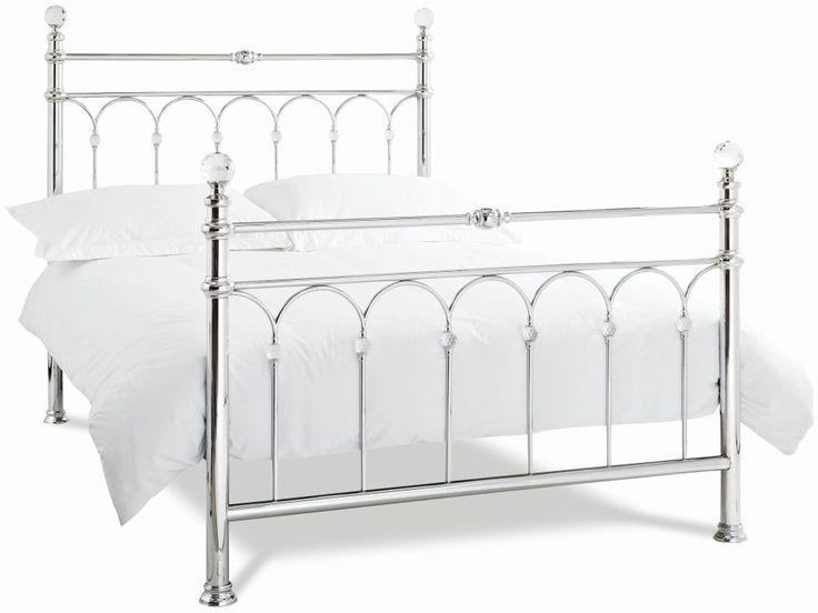 Bentley Designs Krystal Shiny Chrome Metal Bedstead