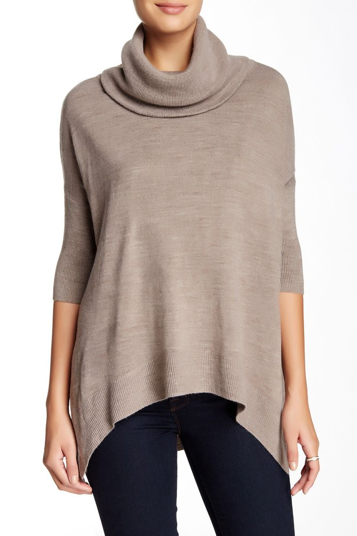 3/4 Length Sleeve Boxy Cowl Neck Sweater by Sweet Romeo on @nordstrom_rack http://rstyle.me/n/b2qq4mub2w