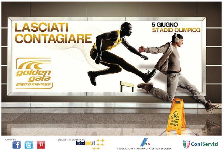 Vedi il mio progetto @Behance: \u201cCampagna pubblicitaria per Golden Gala Pietro Mennea\u201d https://www.behance.net/gallery/45348963/Campagna-pubblicitaria-per-Golden-Gala-Pietro-Mennea