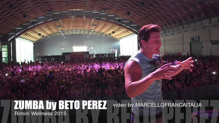 BETO PEREZ introducing ZUMBA on stage at Rimini Wellness 2015