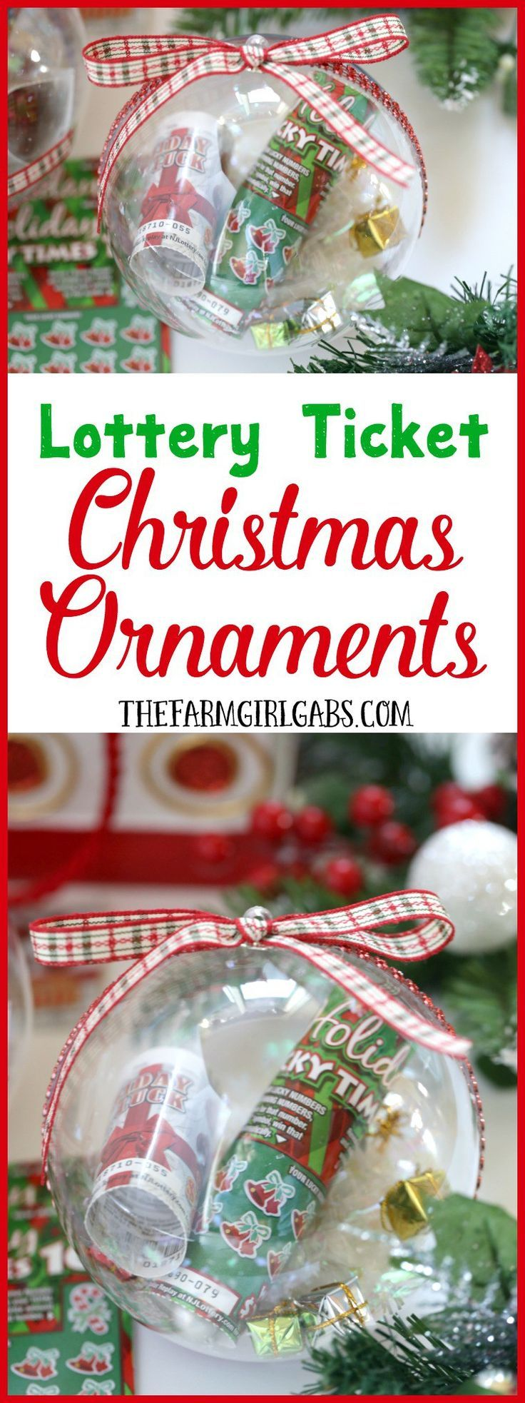 Gift the gift of lottery luck this holiday season with these fun New Jersey Lottery Ticket Christmas Ornaments. AD #NewJerseyLottery