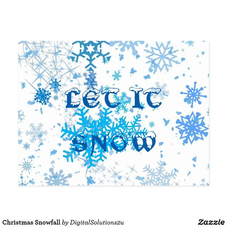 Christmas Snowfall Postcard