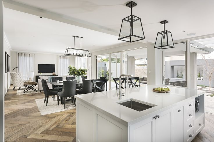 The Toorak open kitchen, living, dining