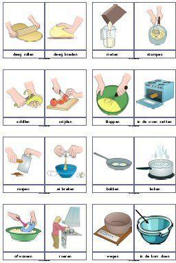 Woordkaarten koken, bakken