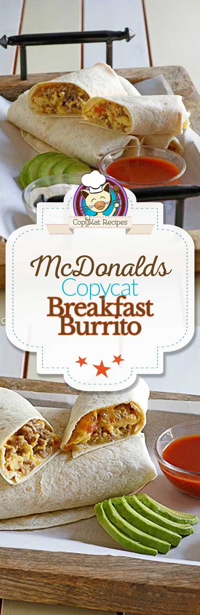 You can recreate the classic McDonald's Breakfast Burrito from scratch with this copycat recipe.