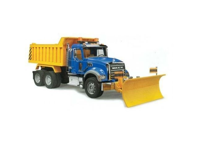 Mack Dump Truck with Snow Plow - Vehicle Toy by Bruder Trucks (02825) http://www.newegg.com/Product/Product.aspx?Item=9SIA5N51T23337&nm_mc=AFC-C8Junction-MKPL&cm_mmc=AFC-C8Junction-MKPL-_-Toys%20-%20Vehicles-_-Bruder%20Toys-_-9SIA5N51T23337&cm_sp=&AID=12165498&PID=5336685&SID=