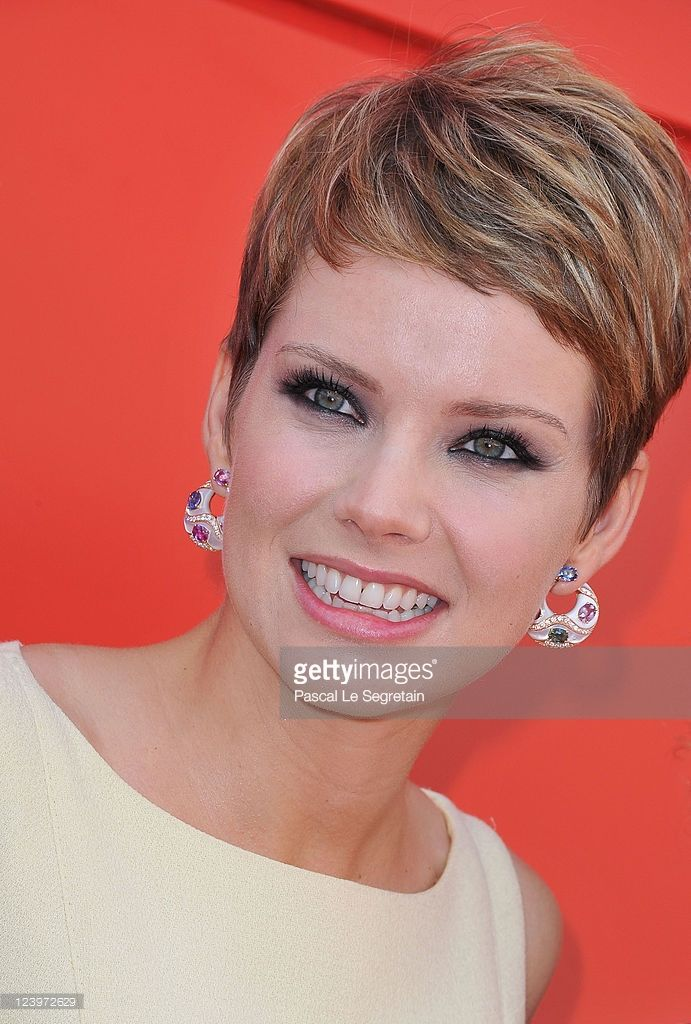 Actress Andrea Osvart attends the 'Maternity Blues' premiere during the 68th Venice Film Festival...