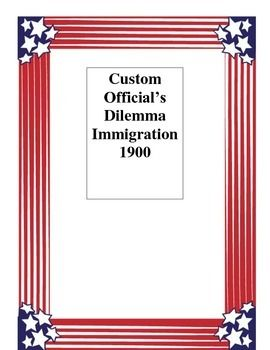 Ellis Island Custom Officials DilemmaThis is an excellent group discussion activity that I give my class when we are learning about Immigration and Ellis Island.  Have students answer the questions on their own and then share their responses in a small group or whole class scenario.