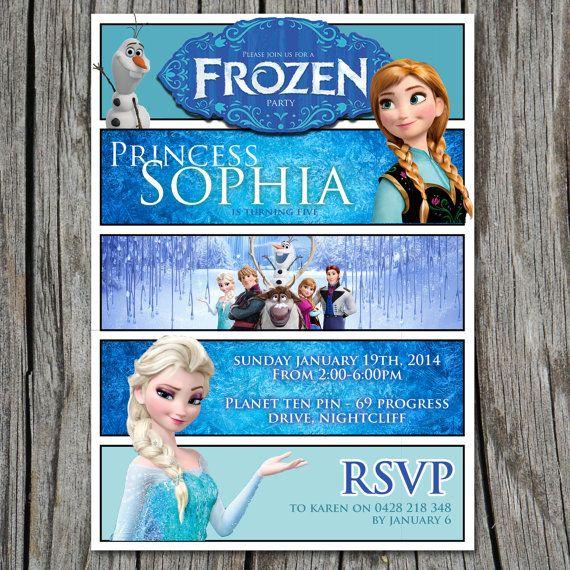 Disney's Frozen Birthday Invitation - 5x7 - Party Printable - Modern, Contemporary Kids birthday Invitation - Printable, Digital