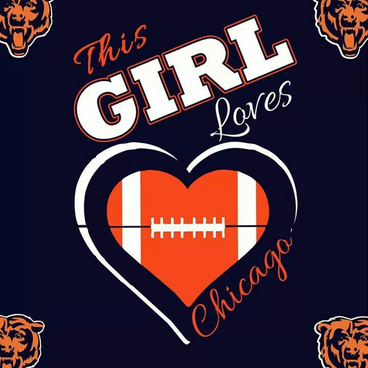 This girl loves Chicago football