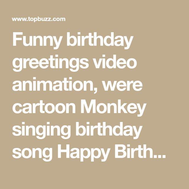 funny happy birthday song monkeys sing happy birthday to - 640×640