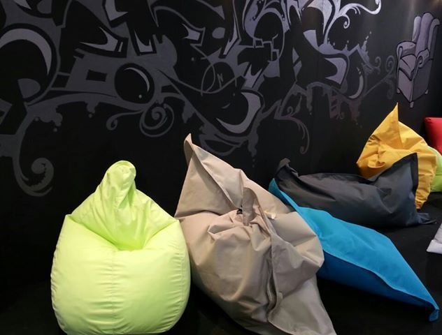 Poofomania#Furnidec business#athens interior show 2013#bean bags#pouf#