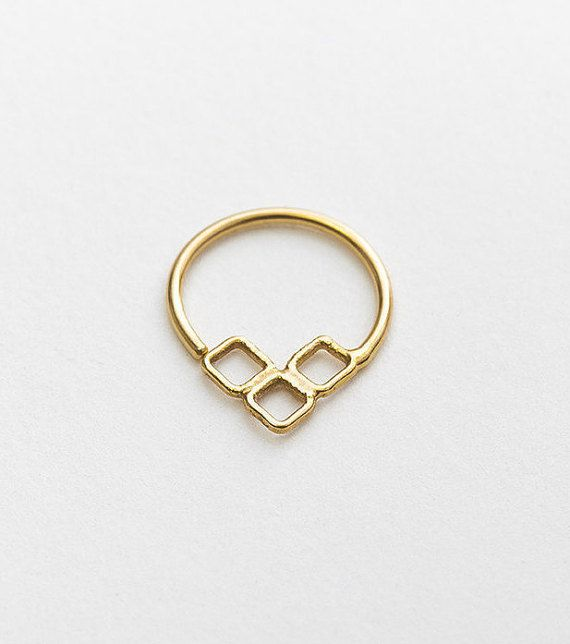 Gold Septum Jewelry Solid Gold Septum Ring Nose Piercing
