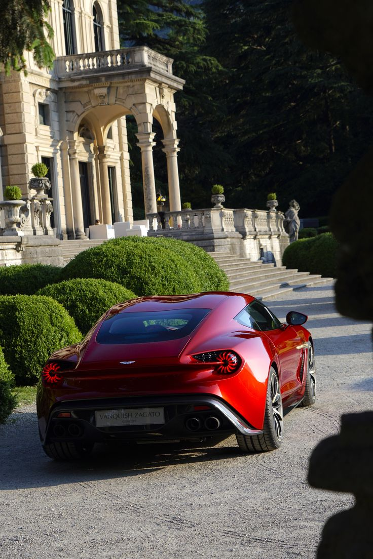 Aston martin and italian design house zagato unveil vanquish zagato concept at villa d