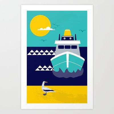 Boys room ideas-001 Art Print by Artword - $15.00society6.com
