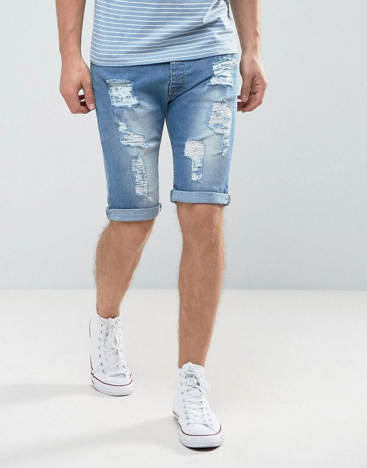 Get this Loyalty & Faith's denim shorts now! Click for more details. Worldwide shipping. Loyalty and Faith Oldham Ripped Denim Shorts - Blue: Shorts by Loyalty and Faith, Stretch denim, Concealed fly, Functional pockets, Ripped detail, Slim fit - cut close to the body, Machine wash, 98% Cotton, 2% Elastane, Our model wears a W32 and is 188cm/6'2 tall. (pantalón corto vaquero, damaged, ripped, mom, distress, flex jean, vaquero, jean, jeans, tejano, tejanos, shorts vaqueros, pantalones cortos…
