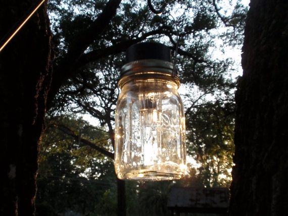 Mason Jar Solar Lanterns Centerpiece or Path by CharlestonCharms, $48.00