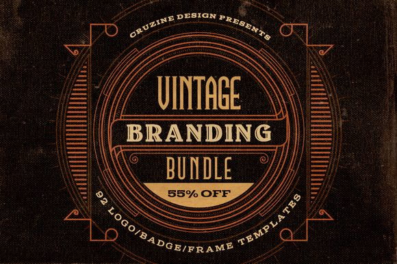 Awesome, beautiful vintage elements | Check out Vintage Branding Bundle (55% OFF) by Cruzine on Creative Market