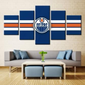 Edmonton Oilers NHL Team (Blue)