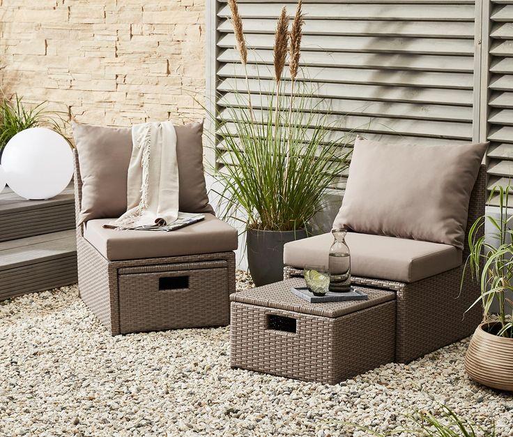 Luxury  uac Gartenm bel aus hochwertigem Polyrattangeflecht Dieses Lounge Set aus hochwertigem Polyrattan