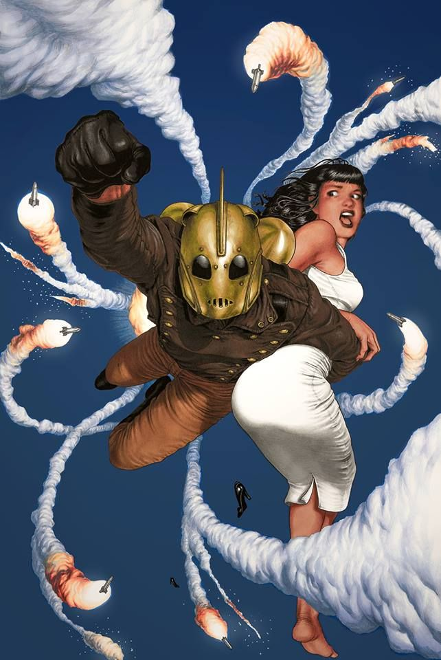 Stunning Art Featuring The Rocketeer Saving Bettie Page — GeekTyrant