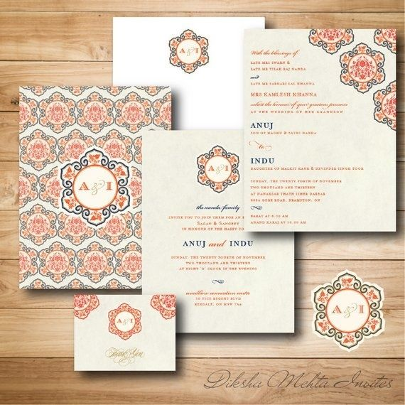 130 best Wedding stationery images on Pinterest Indian wedding
