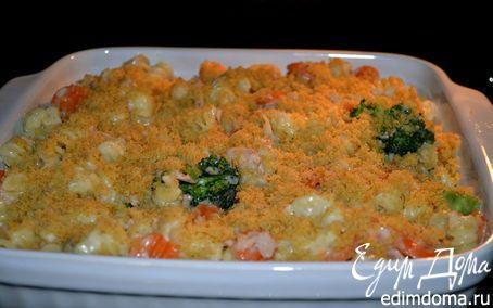 Запеченная паста с тунцом и овощами