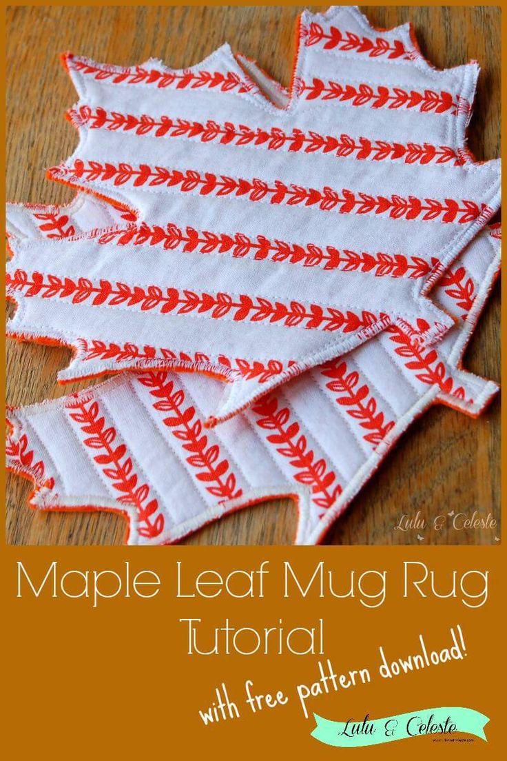 Maple Leaf Mug Rug Tutorial