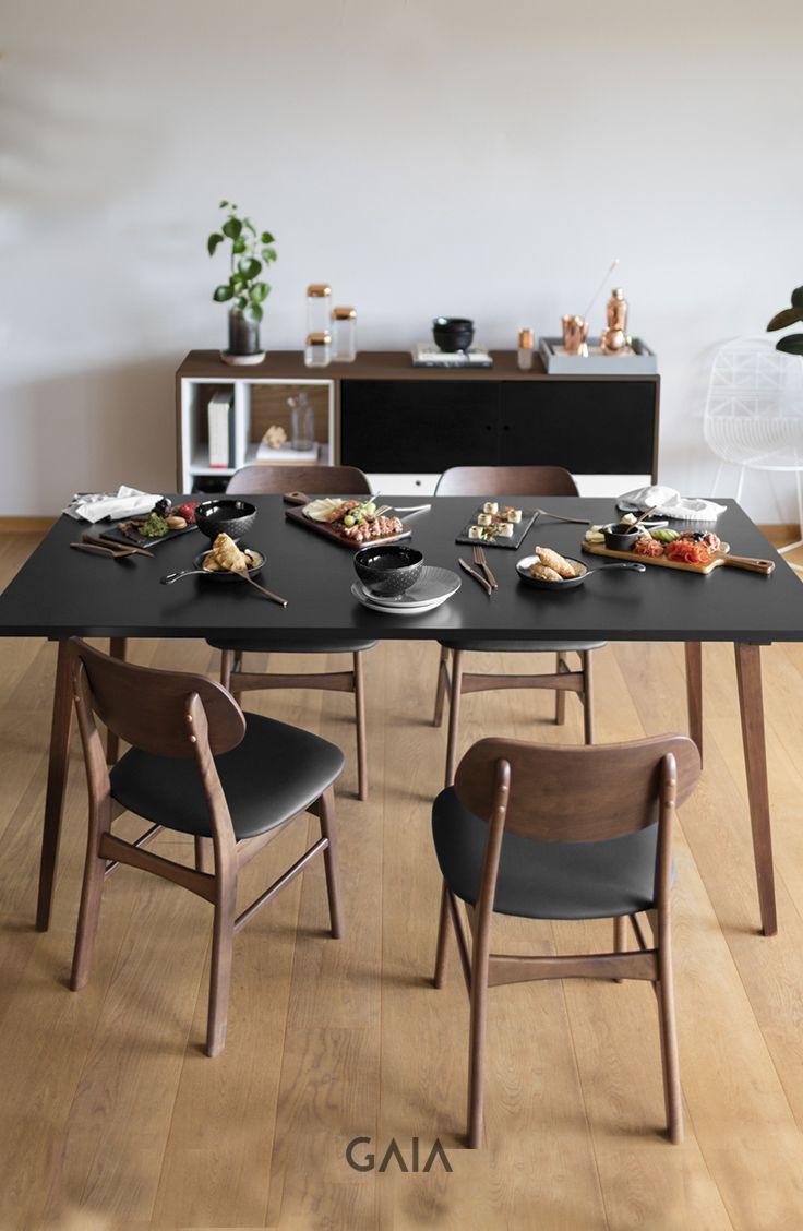 GAIA Design - Mesa Xochi Silla Salvador #Diseño #Comedor #Color #madera #furniture #muebles #GAIADesign #mesadecomedor #sillas #chair #lightingdesign #eating #disfrutar #comer #food
