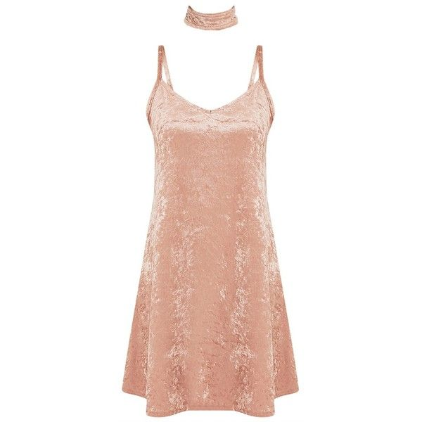 Marshia Champagne Velvet Choker Swing Dress (430 MXN) ❤ liked on Polyvore featuring dresses, vintage white dress, velvet dress, swing dress, off white dresses and trapeze dresses