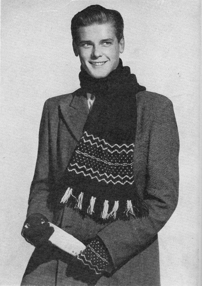 roger moore | 1950s | knit/crochet | tricotar/crochetar ...