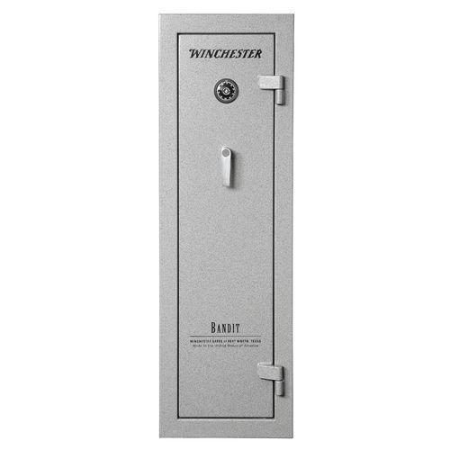 The winchester bandit 9 gun safe is made of 14 gauge steel for 14 gauge steel door
