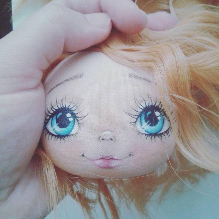 Ой скоро будет кто то рыжий.... #кукларучнойработы #процесс #токареваолеся #личико #кукла #такиедевочки