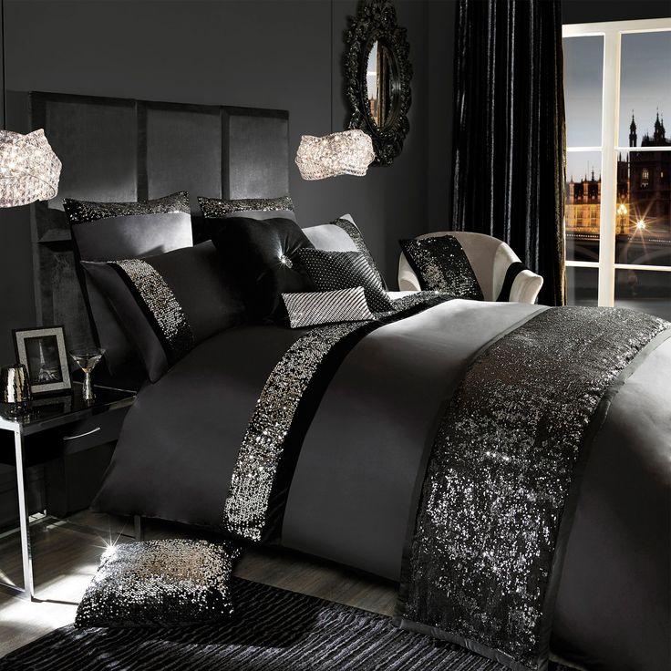 Kylie Minogue Velvetina Black Single Duvet Cover   Textile Warehouse