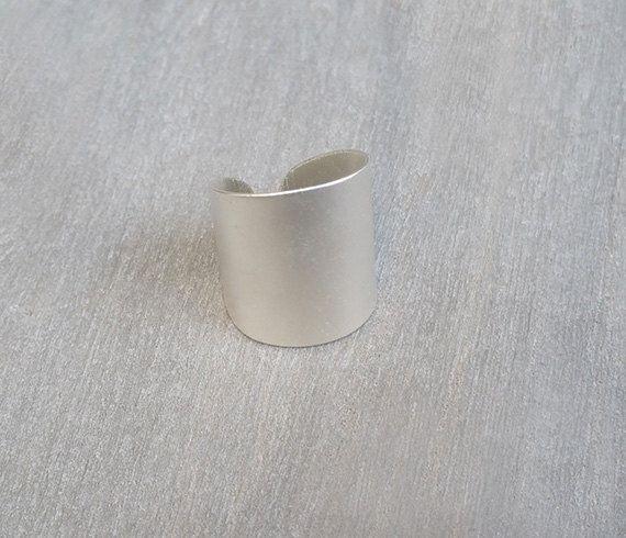 Anillo de plata anillo de banda ancha anillo por HLcollection
