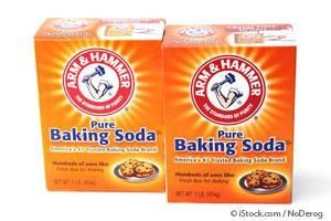 Benefits of Baking Soda - strawberry and 1/2 tsp baking soda for tooth whitening.  Leave on for 5 minutes.