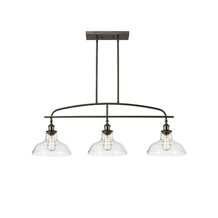 Mattias 3 Light Kitchen Island Linear Pendant Kitchen Lighting Kitchen Island Kitchen Island Pendants