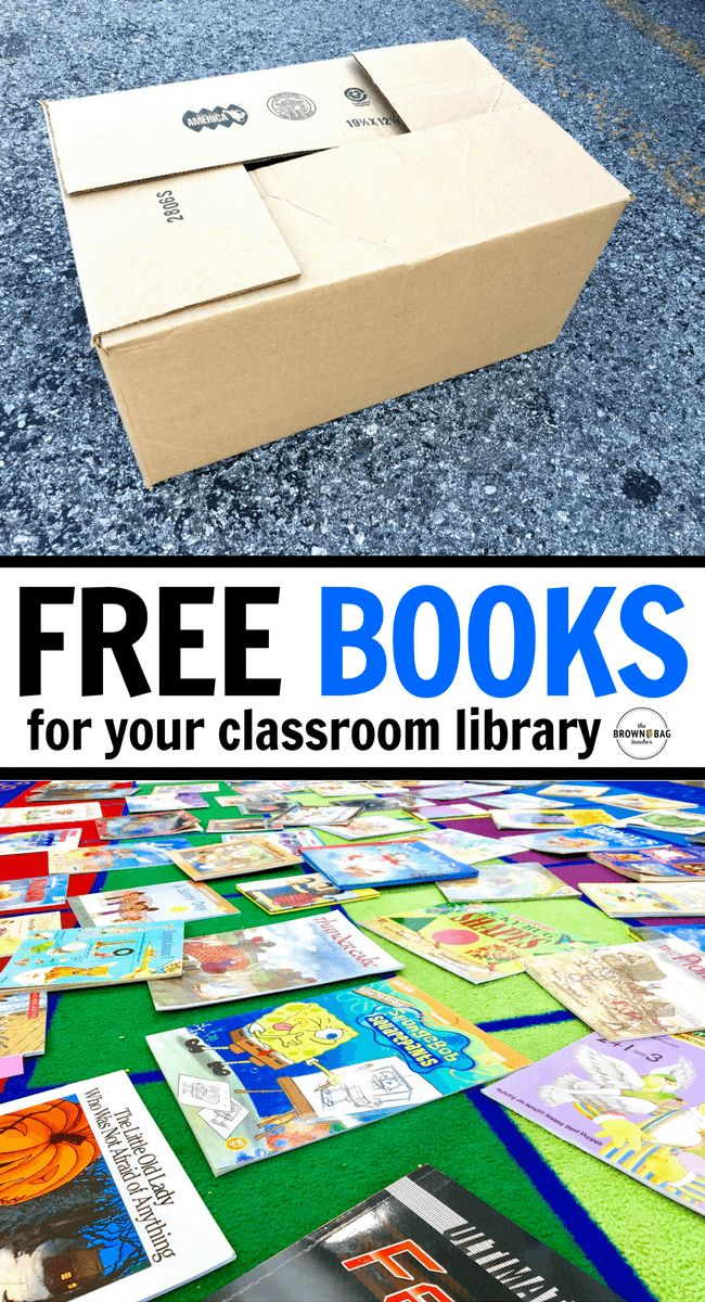 FREE Books for Your Classroom Library - This is AMAZING!! Great idea for getting books for book bins, book bags, and classroom libraries.