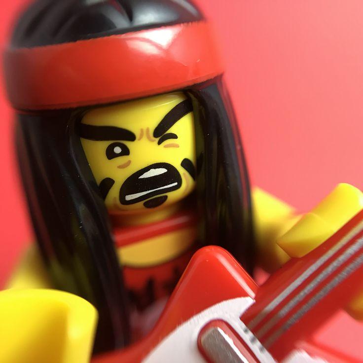 Rocker guy from the ninjago movie minifigures series #ninjago #lego #macrophotography
