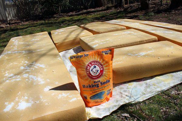 how to clean old camper cushions